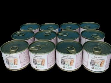 Bio Katzenfutter - Rind mit Topinambur 12 x 200g